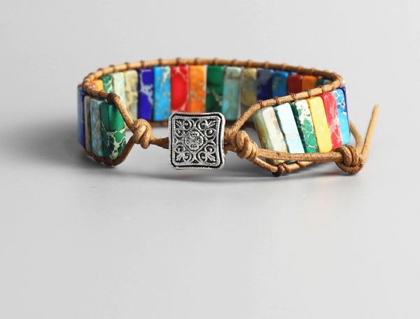 Handmade 7 Chakra Natural Stone Bracelet  1