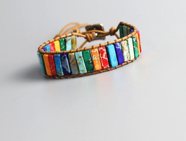 Handmade 7 Chakra Natural Stone Bracelet  2