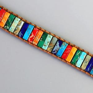 Handmade 7 Chakra Natural Stone Bracelet  5