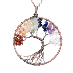 7 Chakra Tree Of Life Gem Necklace