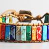 Handmade 7 Chakra Natural Stone Bracelet