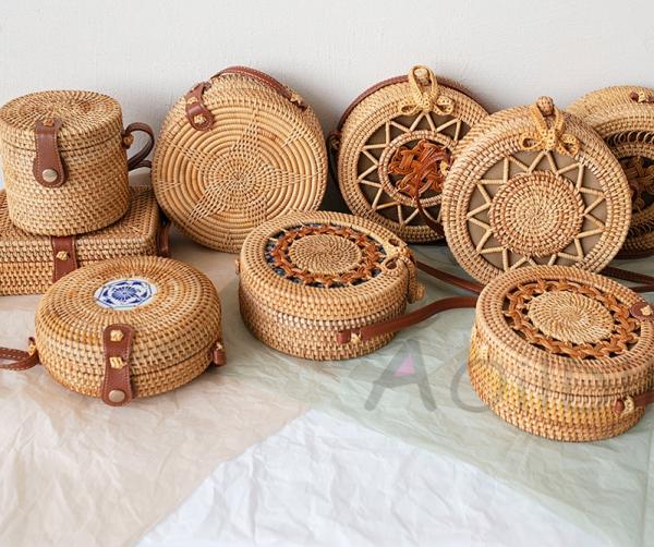 Handmade Woven Rattan Bags